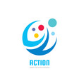 action - business logo template concept vector image vector image