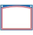 american abstract flag symbolic frame vector image