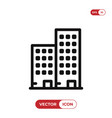 apartment icon vector image vector image