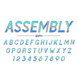 assembly decorative italic font design vector image vector image