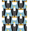 Bald Eagle seamless pattern Eagle with white head vector image vector image