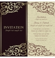 Baroque invitation dark brown and beige vector image vector image