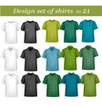 big design set shirts 21 vector image vector image