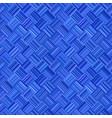 blue abstract repeating diagonal stripe mosaic vector image