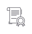 business certificate line icon concept business vector image vector image