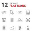 capsule icons vector image vector image