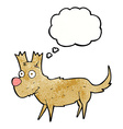 cartoon cute little dog with thought bubble vector image