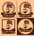 coffee house logo vector image vector image
