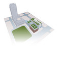 complex of office buildings park streets city plan vector image