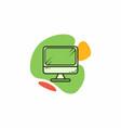 desktop computer icon vector image vector image