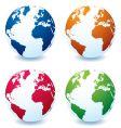 earth globe variation vector image