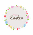 easter egg hunt poster cute invitation card vector image vector image