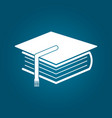 education and book icon flat vector image