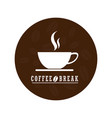 flat coffee logo designcoffee logo isolated on vector image vector image