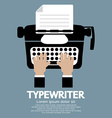 Flat Design of Typewriter The Classic Typing vector image vector image