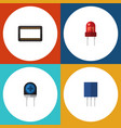 flat icon appliance set of mainframe receptacle vector image vector image