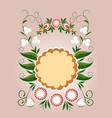floral card spring floral frame vector image vector image
