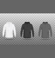 front view sweatshirts or hoodies realistic vector image vector image