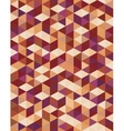 Geometric pattern of brown triangles vector image