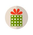 gift box surprise for holiday flat color icon vector image vector image