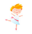 girl dancing ballet in cute dress vector image