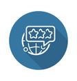 global customer feedback line icon vector image