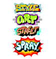 graffiti art slogans vector image