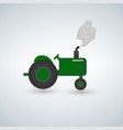 green tractor flat heavy farm machinery for vector image vector image