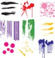 grunge element collection vector image vector image