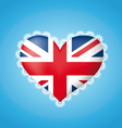 Heart shape flag of Great Britain vector image