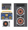hip hop accessory musician instruments vector image