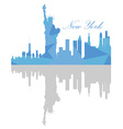 Isolated New York Skyline vector image vector image