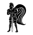 knight with sword vector image vector image