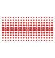 life star shape halftone array vector image