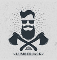 lumberjack label logo t-shirt design vector image