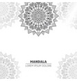 luxury light mandala background vector image