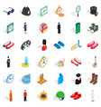 mask icons set isometric style vector image vector image