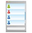 messanger browser vector image