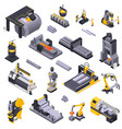 metal industry isometric set vector image vector image