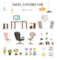Modern Office Accessories Cartoon Set vector image vector image