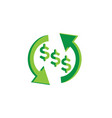 money change symbol investment for logo design vector image