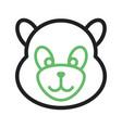 panda face vector image vector image