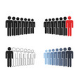 people group icon set working group team vector image vector image