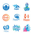 people logo set vector image