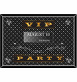 poster with a gold inscription vip party vector image