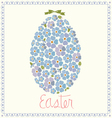 poster with egg from flowers of forget-me-nots vector image vector image