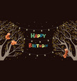 red panda in a tree birthday banner graphics vector image