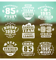 rugteam badges vector image vector image
