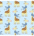 Seamless giraffes pattern vector image vector image