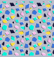 seamless pattern in collage style vector image vector image
